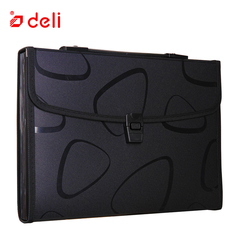 Image 5 - Deli A4 Size Folder Document Bag Expandable Filing Storage Document File Folder Organizer Expander Holder Bag Business Briefcase-in File Folder from Office & School Supplies