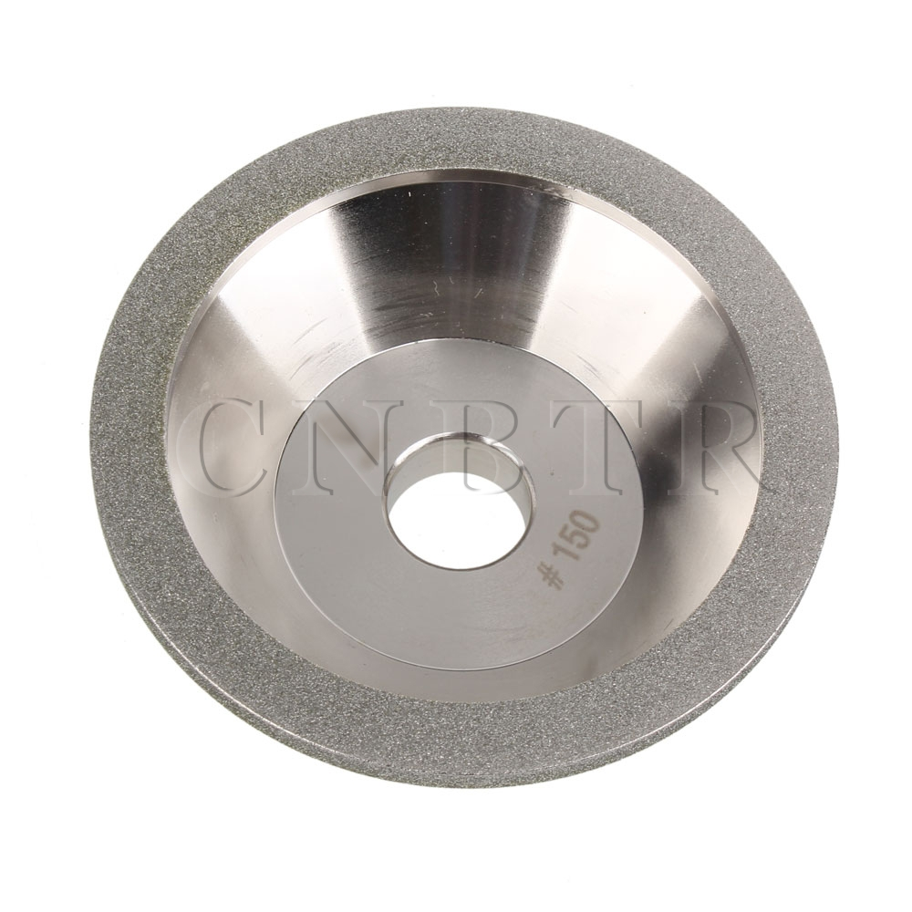 CNBTR Bowl Shape Hardware Polishing Tool Diamond Grinding Wheels Cup Cutter 150 Grit silver bowl shaped diamond grinding wheel cup grit 320 dia 100mm grinder cutter
