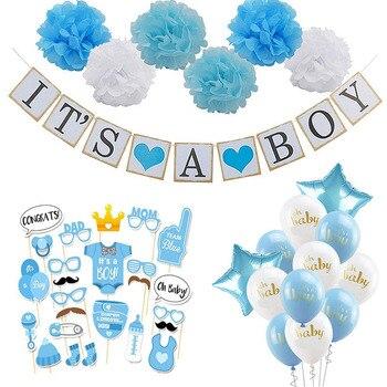 Baby Shower Della Ragazza Del Ragazzo Decorazioni Set È Un Ragazzo È Una Ragazza Oh Palloncini per Bambini di Genere Rivelare Bambini festa di Compleanno Del Bambino Doccia Doni 1
