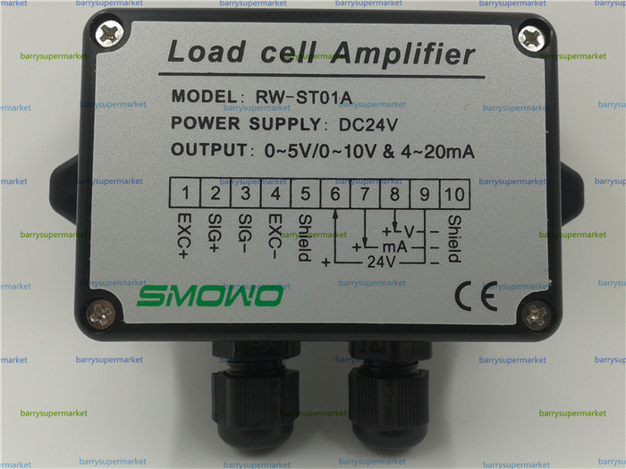 ФОТО Pressure sensor output amplifier 0-10v 4-20ma transmitter RW-ST01A weighing force measurement balance load cell amplifier