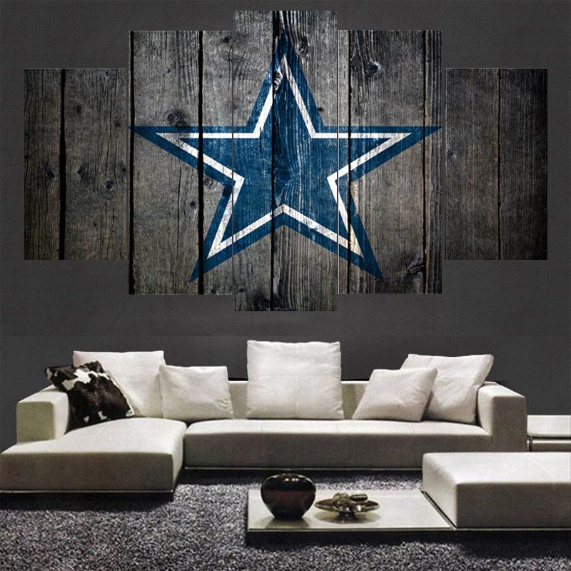 Rugby Football Dallas Cowboys Team Paintings Wall Home Decor Picture Canvas Painting Calligraphy For Living Room Bedroom In From