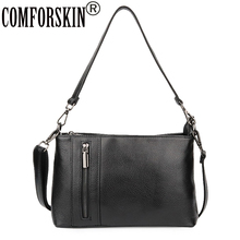 COMFORSKIN Luxurious Guaranteed Cowhide European And American Ladies Messenger Bag High Quality Genuine Leather Bolsas Feminina