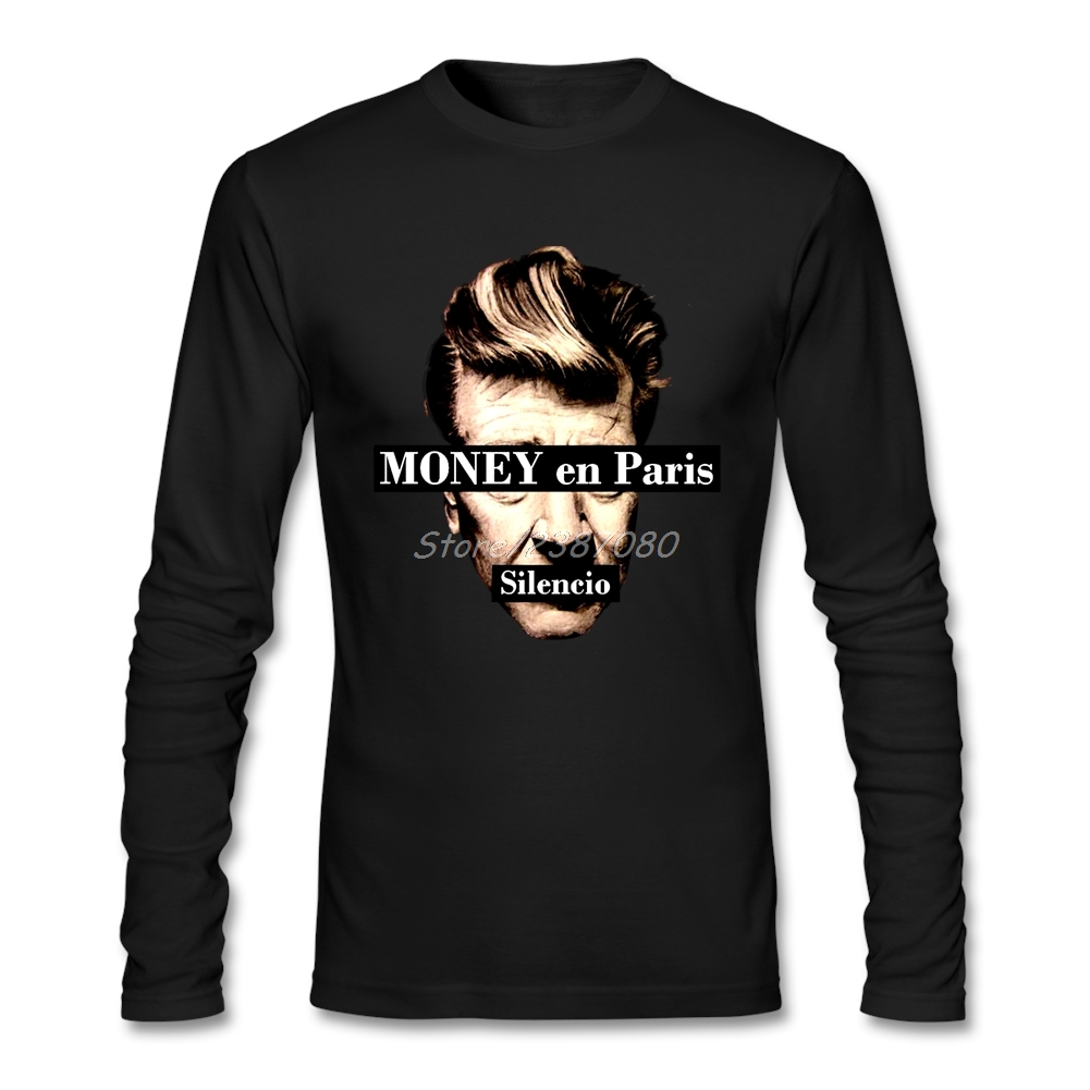 David Lynch Twin Peaks T Shirt Custom Long Sleeve T-shirt Men Fashion Lovers Cotton Crewneck Men Shirts