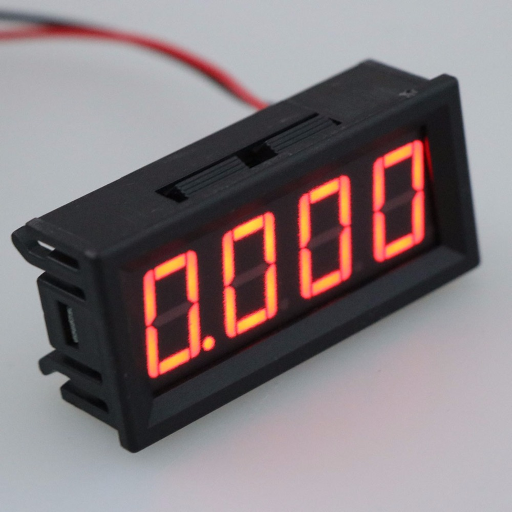 0 9 999A 10A 4 digits Ammeter Current Panel Meter Gauge 0 56inch 4 LED 4 28V Tester Tools in Current Meters from Tools