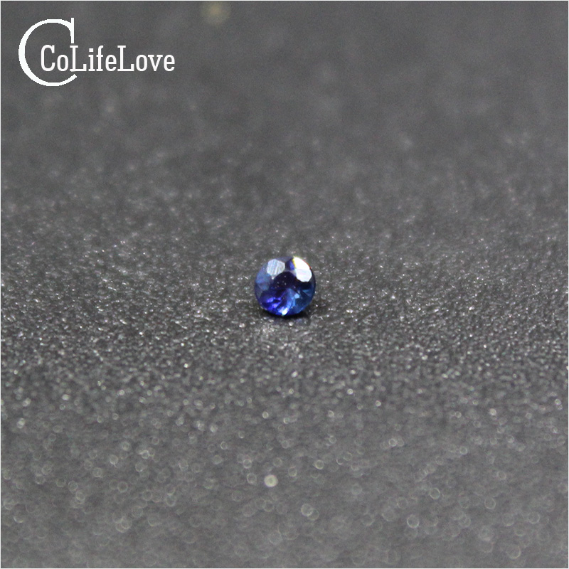Small round cut natural sapphire loose gemstone 1mm sapphire loose stone from biggest sapphire mine in China
