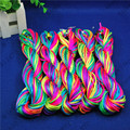 Top 2mm Kumihimo cord 100Meter Macrame Nylon Cord Rattail Satin Braided String Rainbow Color Jewelry Beading Cord ds5-m