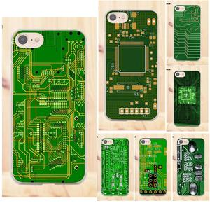 Maerknon For Apple iPhone 4 4S 5 5C SE 6 6S 7 8 Plus X For LG G4 G5 G6 K4 K7 K8 K10 TPU Mobile Computer Circuit Board Printed(China)