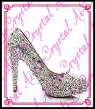 Aidocrystal 2016 Luxus Mode für frauen Tragen Straße Sieht kristall 140mm High Heels Schuhe Frau Beleg Auf Pumpen