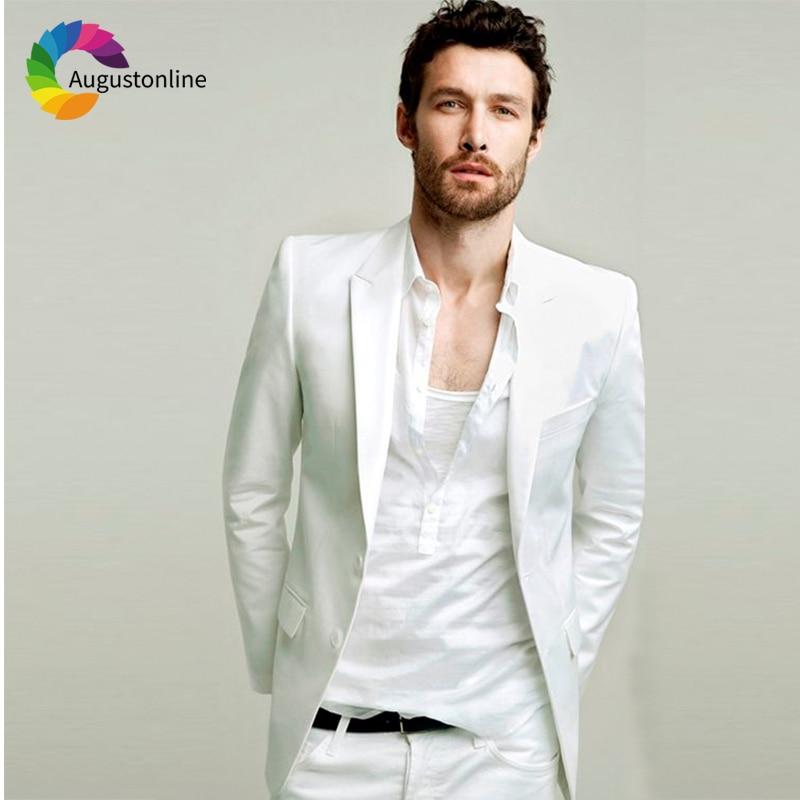 Jacket Fit Pantalones La As Image Esmoquin Color Boda Prom Slim Novio Traje  Only Blanco Hombre custom Verano Mejor Chaqueta 2018 ... f119bf0cf41