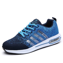 High Quality Men Casual Shoes Spring Summer Fashion Fly Kniting Lace-up Man Shoes Tenis feminino Femi Breathable Sneakers