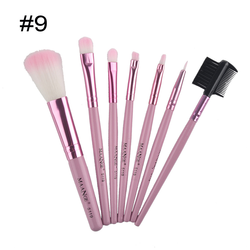 7pcs/set Makeup Brushes Professional kits Sets Cosmetics Makeup Brush Tools Foundation Brush For Face Make Up Beauty Essentials 8pcs professional honeycomb cosmetic brush makeup brushes sets kits foundation eye face make up blush tools beauty accessory