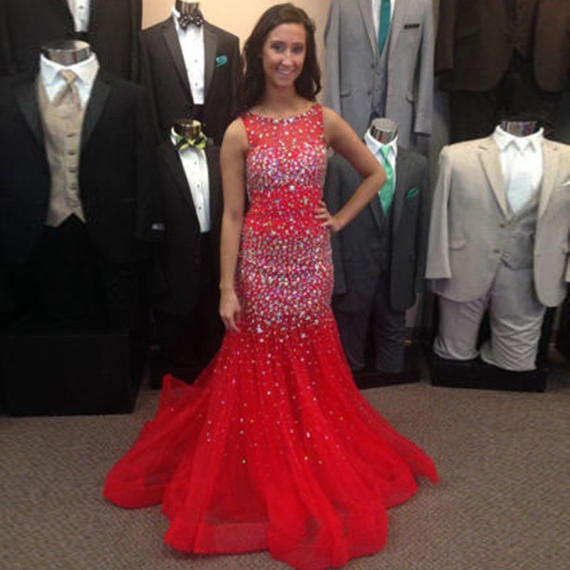 Popular Sparkly Red Prom Dresses-Buy Cheap Sparkly Red Prom ...