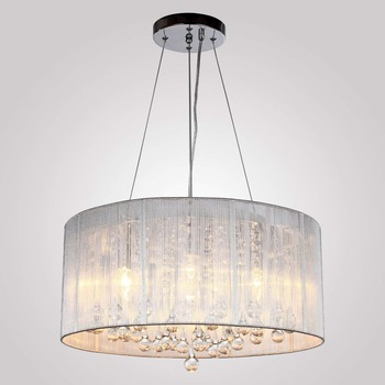 Modern Silver Crystal in Cylinder Shade Drum Style Home Ceiling Light Fixture Flush Mount Chandeliers Lighting for Bedroom Livin ceiling fixture