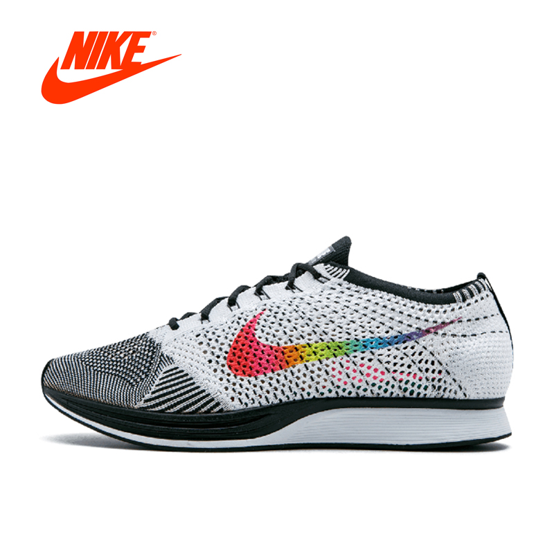 Nike Flyknit Racer Be True steady boutique Mens Running Shoes Sports jogging Breathable Sneakers homens men shoes New Arrival