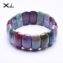 Natural Indian agates Stone Bracelet Jewelry Handmade Beads Mans Bracelets Creative Gifts
