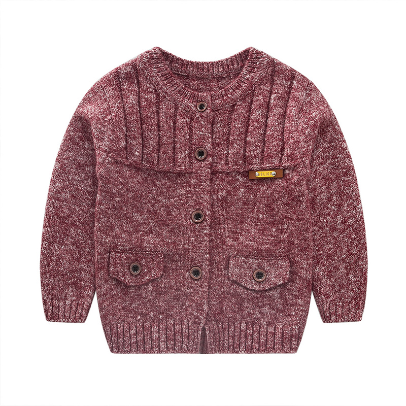 fbfed8512 Casual Crochet Baby Sweater For Boys Solid Warm Autumn Cardigan ...