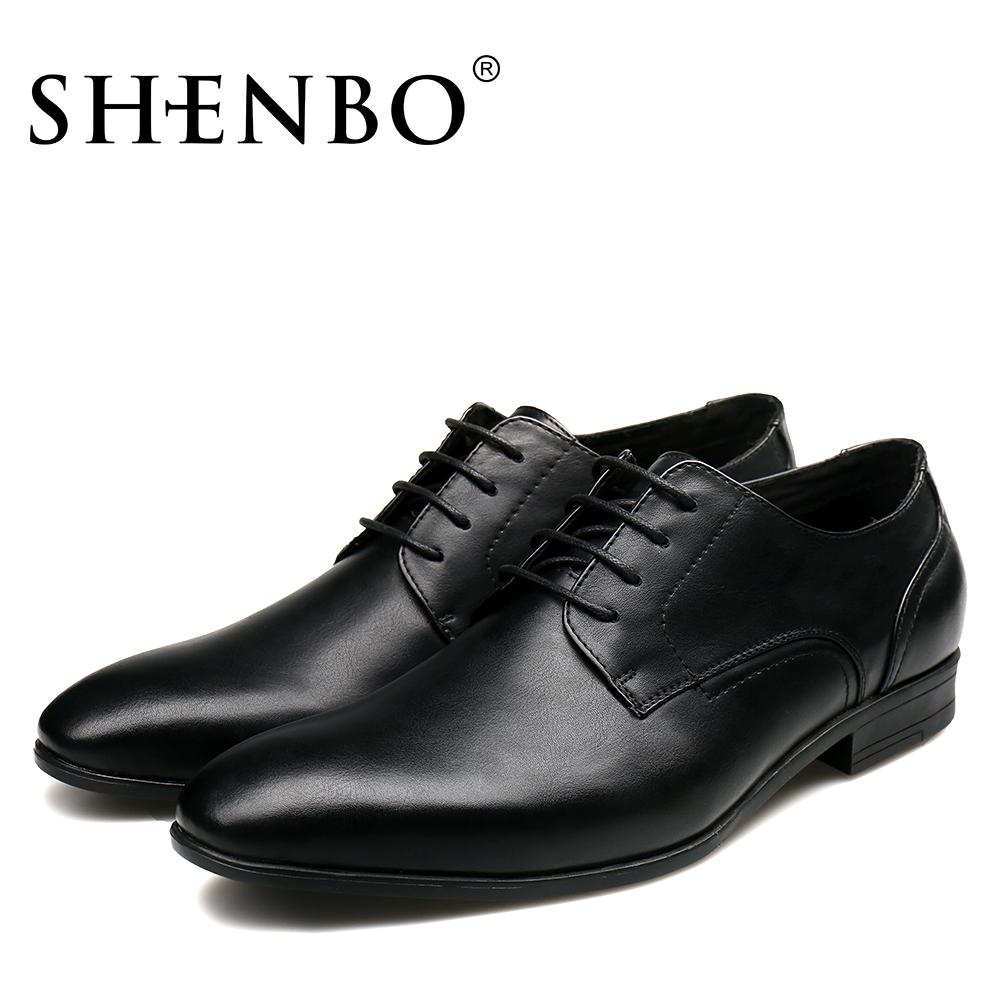 e978036388 Shenbo Brand Fashion Lace Up Men Dress Shoes,High Quality Classical Men  Oxfords,Black Oxford Men For Bussiness Sale For Russians-in Formal Shoes  from Shoes ...
