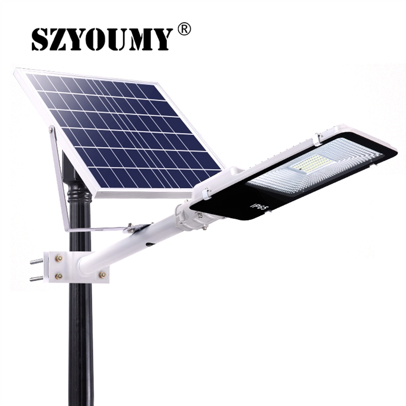 SZYOUMY Led Solar Street light Outdoor Led Solar Light Waterproof Solar Panel Remote Control 200W Solar