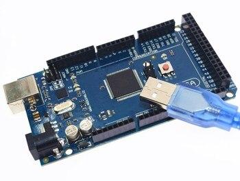 Livraison gratuite Mega 2560 R3 Mega2560 REV3 Conseil ATmega2560-16AU + câble compatible USB pour arduino Mega 2560 r3