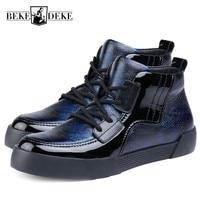 Мужские кроссовки из натуральной кожи Осень Зима Теплые камуфляжные высокие ботинки на платформе мужские модные брендовые кроссовки Chaussures