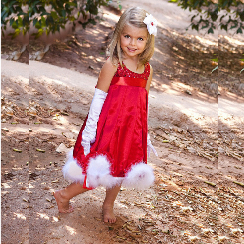winter kids princess dress Christmas costumes for girls Cloak two pieces dress sets children red Sequin christmas dress