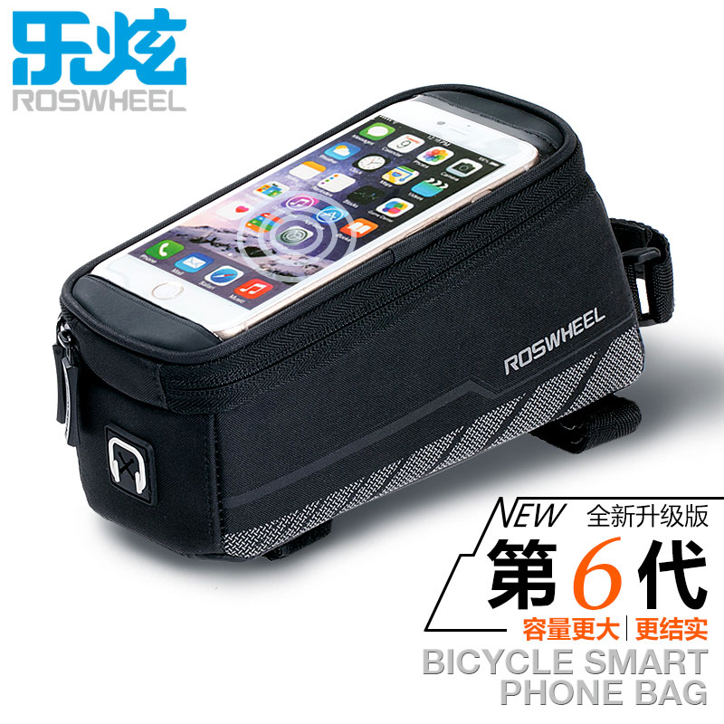 ROSWHEEL BICYCLE BAGS CYCLING BIKE FRAME IPHONE BAGS  HOLDER PANNIER MOBILE PHONE BAG CASE POUCH 5