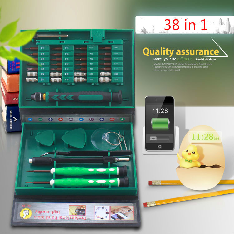 38 in 1 Profession Screwdriver Set Precision Repair Tools Kit S2 Alloy Steel Material Tool for iPhone Cell Phone Computer Watch