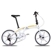 New brand  inch aluminum alloy frame 7 speed disc brake folding bike