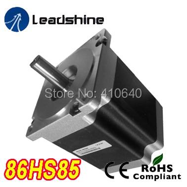 Free Shipping GENUINE Leadshine 86HS85 2 Phase NEMA 34 Hybrid Stepper Motor with 6 N.m 4.9 A length 118 mm shaft 12.7 mm