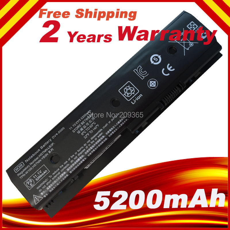 Laptop Battery For HP Envy Dv4-5200 Dv6-7200 M6 Pavilion Dv4-5000 Dv6-7000 MO06 H2L55AA