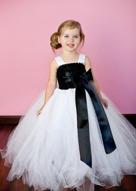 aaa2bf90860a1 Tığ Üst Çiçek Kız Elbise Ile Şerit Bow Çiçek Kat Uzunluk Kız Tutu Resmi  Elbise Muhteşem