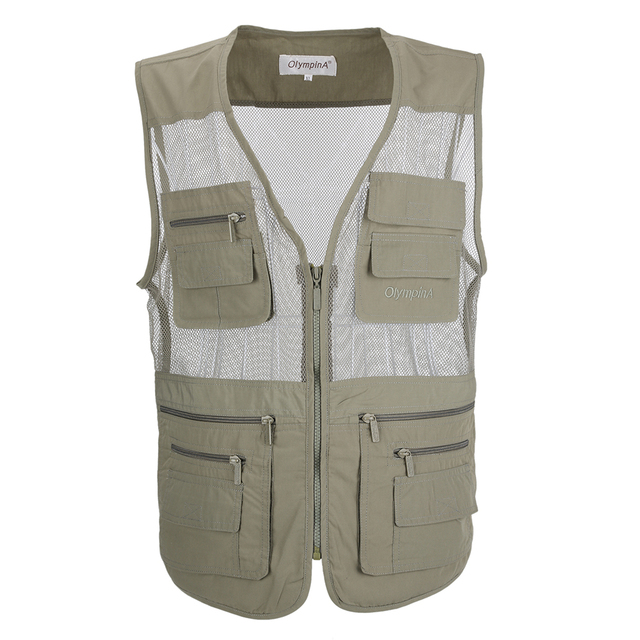 Mens Casual Work Utility Shooting Travels Mesh Vest With Pockets