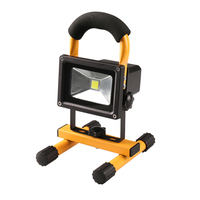 Red Flash + white LED Waterproof lamp charging Cast light Red light flash Emergency lamp portable Portable floodlight 10W