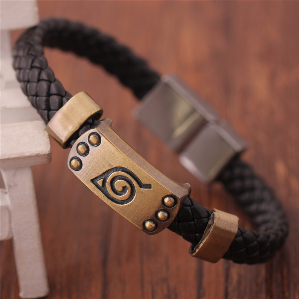 One Piece Naruto Armband Anime Blad Mark Brown Armband Cosplay Bangle FHRG För Julklapp Leksaker Gratis frakt
