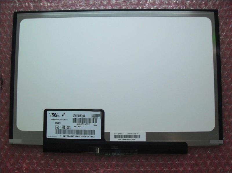 Free Shipping LTN141BT08 LT141DEQ8B00 LCD Screen for IBM Lenovo thinkpad T400S T410S FRU:04W0433 1440*900 Slim LED PANEL  цены онлайн
