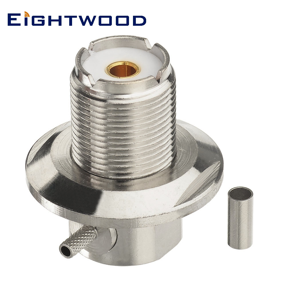 Eightwood UHF Jack RF Connector SO239 Right Angle For RG-316 Cable Cb Antenna Baofeng BF-888s UV-5r Uhf Ham Radio Aerial Adapter