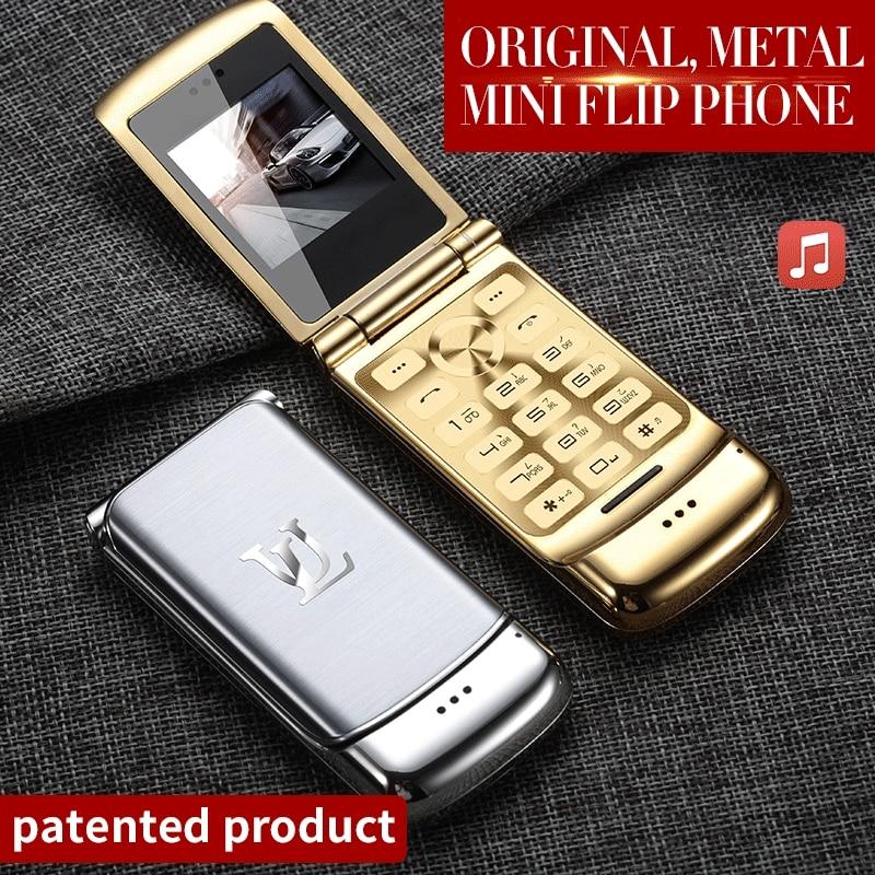 V9 Металлический Мини Мужской Бизнес Флип Мобильный двойной карты маленький телефон Личность Ультра-Тонкий Карманный запас