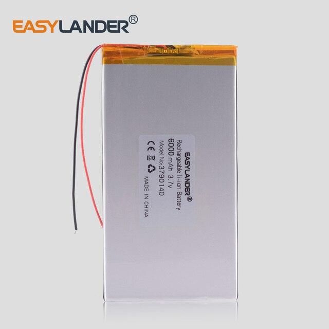Công suất lớn 3.7 v pin máy tính bảng 6000 mah mỗi máy tính bảng thương hiệu phổ lithium có thể sạc lại pin 3790140