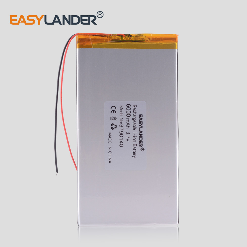 Large Capacity 3.7 V Tablet Battery 6000 Mah Each Brand Tablet Universal Rechargeable Lithium Batteries 3790140