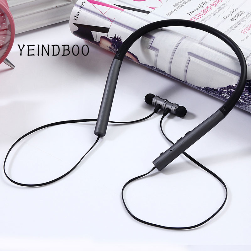YEINDBOO Bluetooth Earphone Built-in Mic Wireless Lightweight Neckband Sport Headphone Earbuds Stereo Auriculares for phone