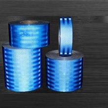 Niebieski 5CM odblaskowe fluorescencyjne naklejki samochodowe świetlista taśma samochodowa ciężarówka motocykl taśma ostrzegawcza rolka 5 metrów i 10 metrów