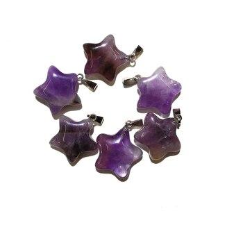 acbf604aae75 10 piezas amatistas naturales colgantes de piedra de la suerte y colgante  de cristal para la joyería collar