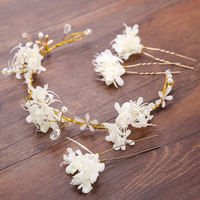 MANWIIHandmade Flowers Hair Band Hairpin Suit Bridesmaid Wreath Head Ring Headdress Portrait Jewelry Bridal Hair OrnamentsAQ2300