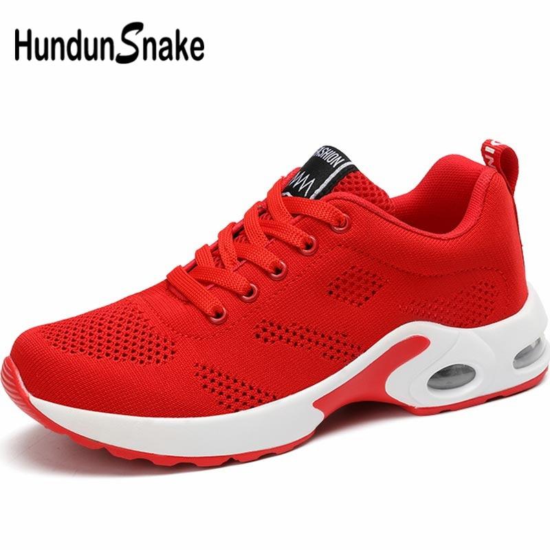 Hundunsnake Mesh Running Shoes For Women Sport Shoes Sports Women's Sneakers Red Air Shoe Summer Footwear Training Trainer B-063
