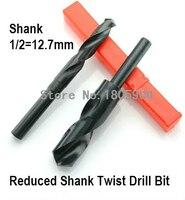 Envío gratis de alta calidad 1 Uds 1*17 5 17 5mm 17 5 HSS reducido vástago de la broca de diámetro de mango 1/2 pulgadas