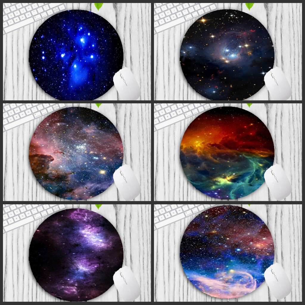 Mairuige Big Promotion Colorful Space Colour Gaming Mouse Pad Computer Mats Size For 20*20cm Round Mousepad Rubber Mousemats