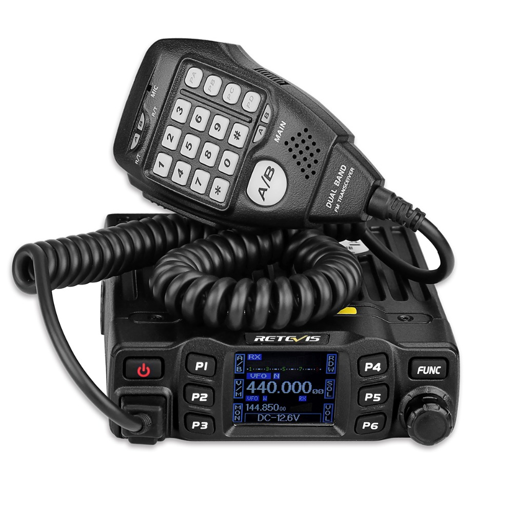 Retevis RT95 Mobile Car Radio Walkie Talkie VHF UHF Dual Band A Due Vie Radio 25 w 200CH DTMF TFT LCD display Ham Radio Amador + MIC