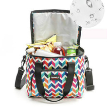 10l Picnic Bag Oxford Cloth Picnic Food Thermal Cooler Lunch Box Bag Storage Organizers Portable Insulated Lunch Bag цена 2017