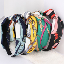 DPSaiLYY Top Knot Turban Headband 40's Vintage Style Elastic Hairband Hair Accessories No Slip Stay on Knotted Head band Women knot front pep hem striped top with skirt