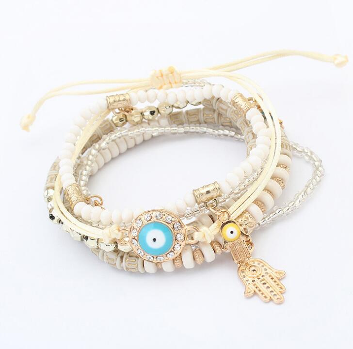 Poem snow Resin Handwear Fashion Girl Palm Bracelet
